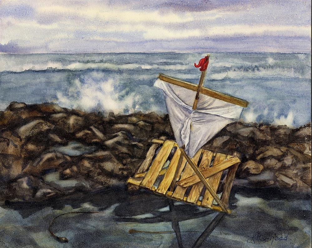 """Lost At Sea"" original fine art by Leslie Redhead"