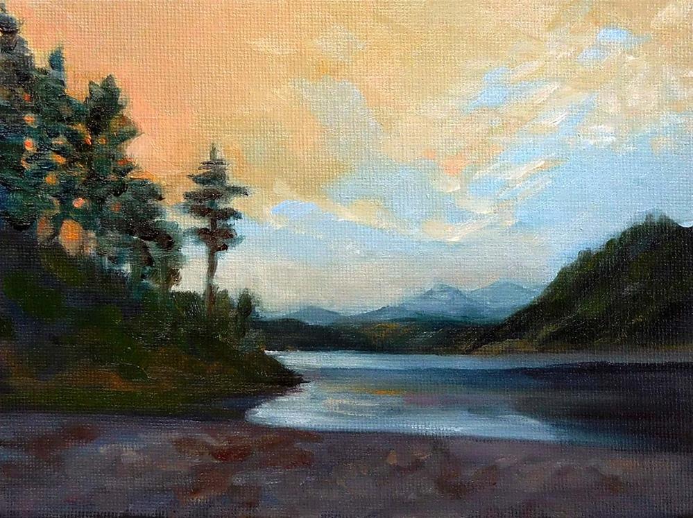 """Fiery Skies"" original fine art by Cietha Wilson"