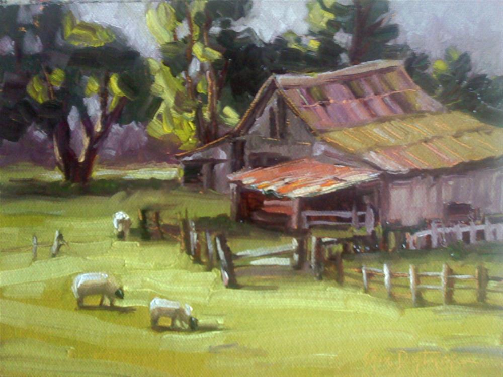 """Barnyard Quintessence"" original fine art by Erin Dertner"