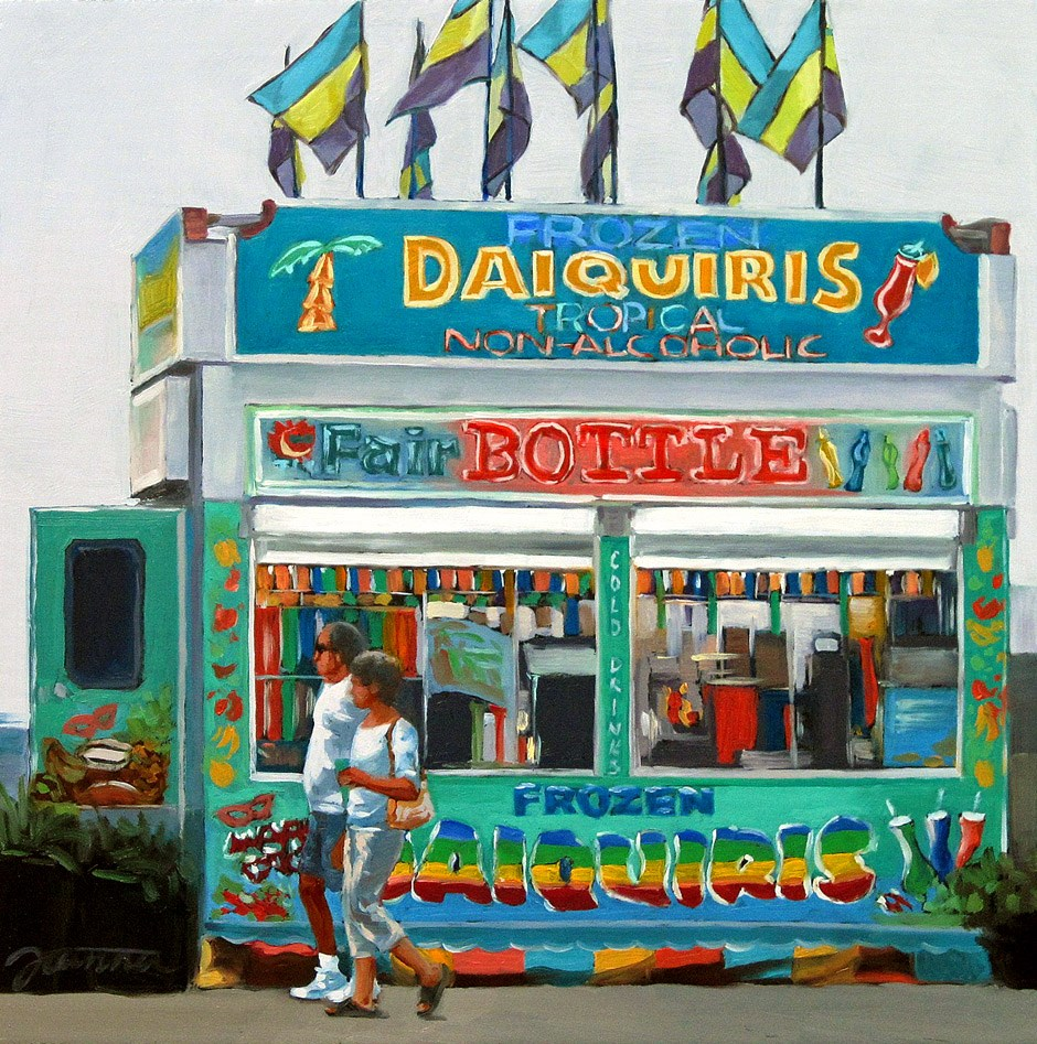 """Tropical Passion--Series Painting of Fair Food Booth"" original fine art by Joanna Bingham"
