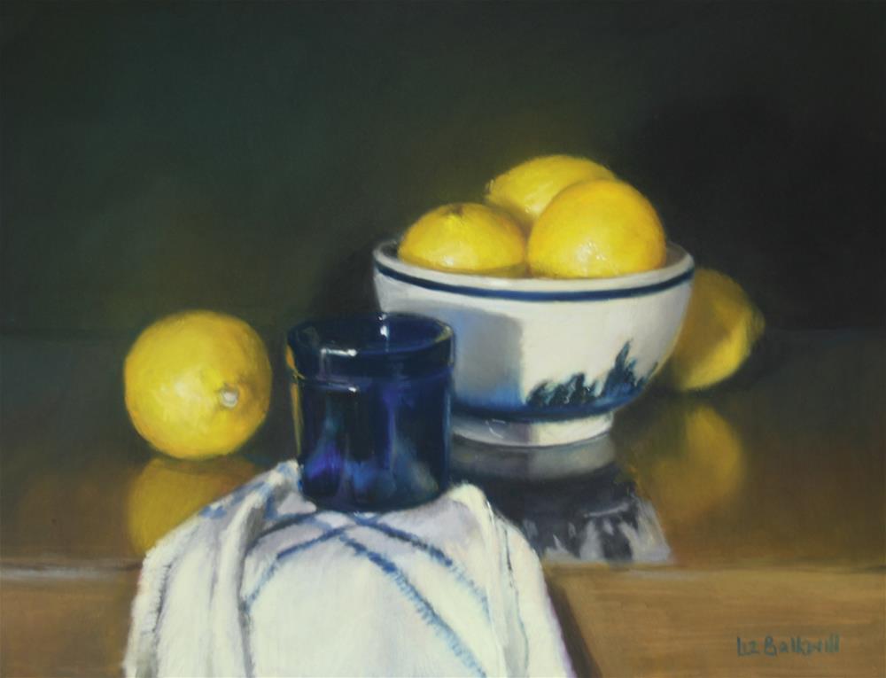 """Lemon in dutch bowl"" original fine art by Liz Balkwill"