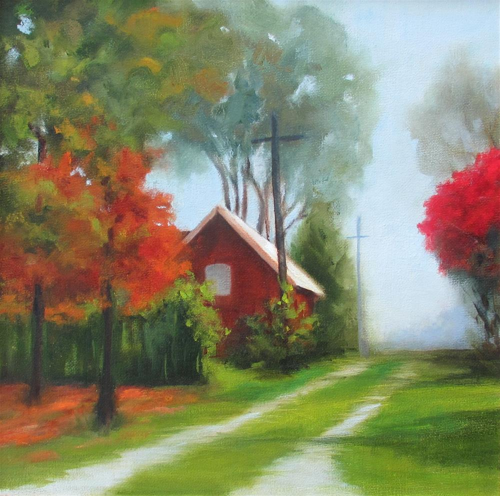 """Taking the Back Road"" original fine art by Linda Carney"