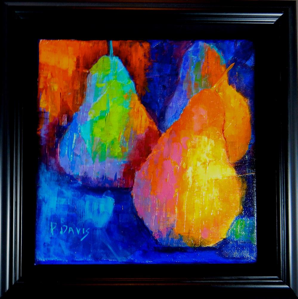 """Three Pears"" original fine art by Phyllis Davis"