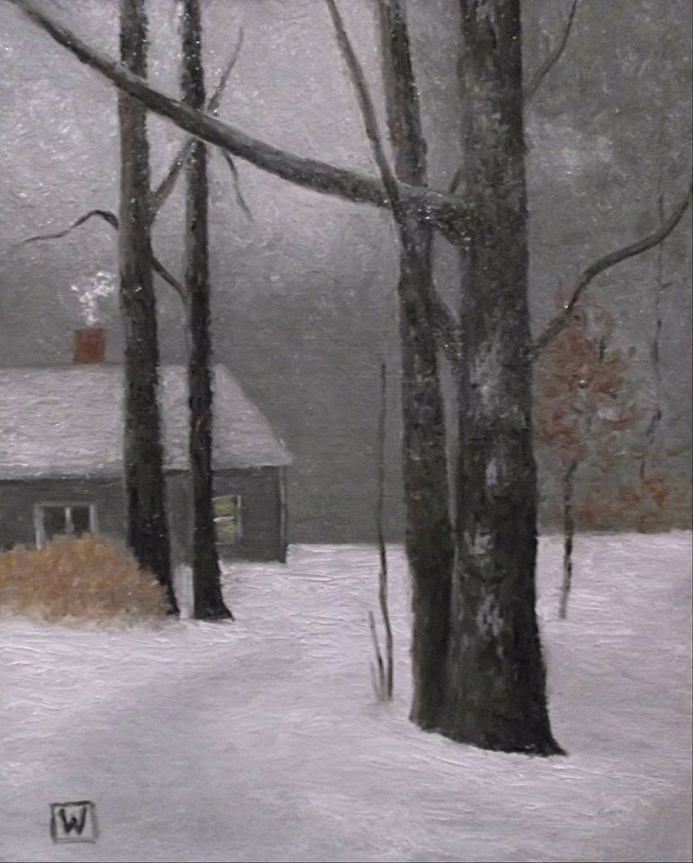 """A winter day"" original fine art by Joe Wojdakowski"
