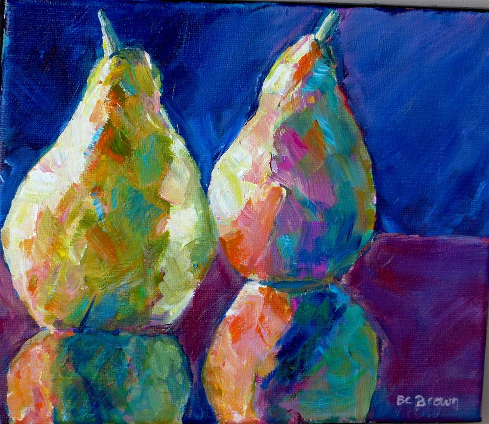 """Pear Reflections"" original fine art by Beth Carrington Brown"
