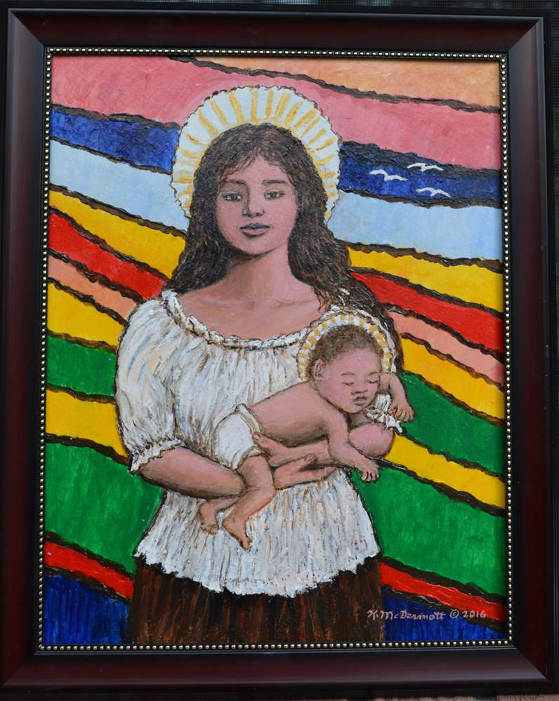 """Madonna of the Promised Land"" original fine art by Kathleen McDermott"