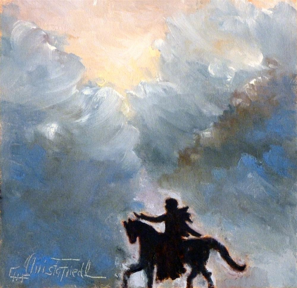 """The "" Cloud Cavalier"""" original fine art by Christa Friedl"