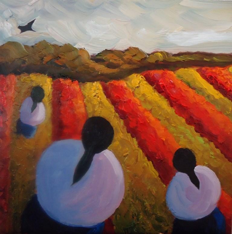 """""""104 AS THE CROW FLIES"""" original fine art by Dee Sanchez"""