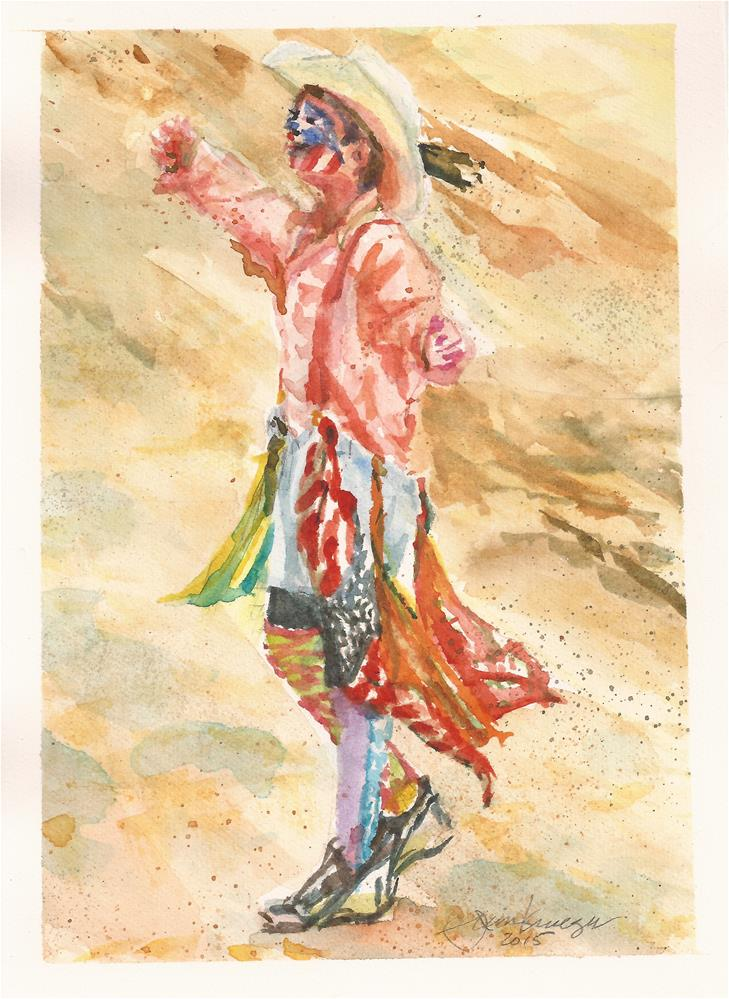 """Young Rodeo Clown"" original fine art by Jean Krueger"