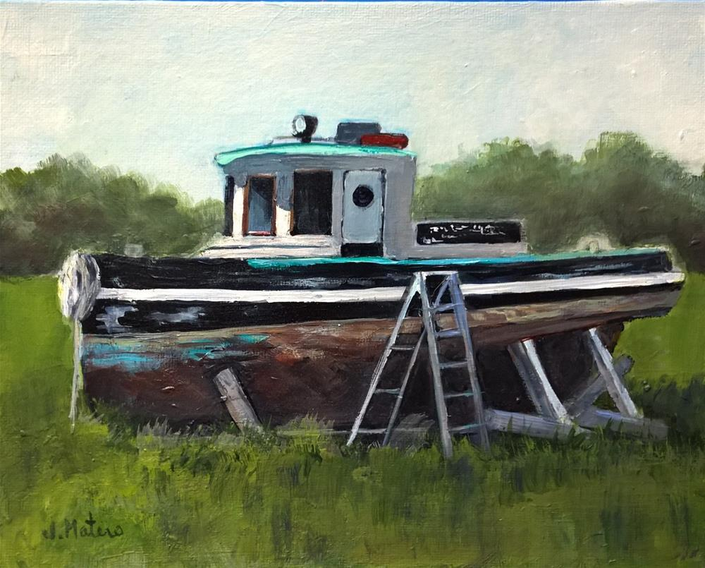 """Old Tug Boat"" original fine art by Joan Matero"