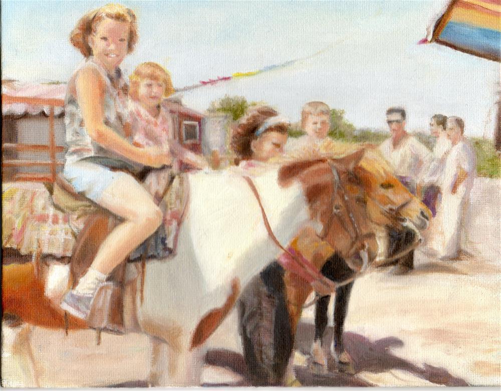 """Pony Ride"" original fine art by Brenda Bolts"