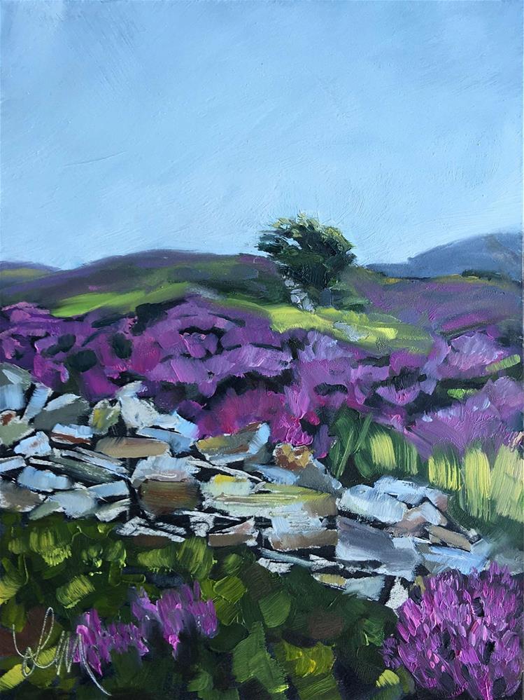"""""""Windswept"""" original fine art by Leslie Miller"""
