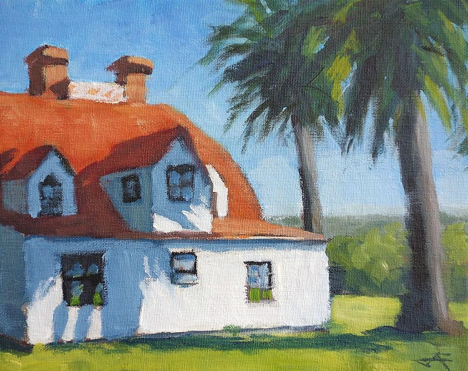 """""""Field House II"""" original fine art by J. Farnsworth"""