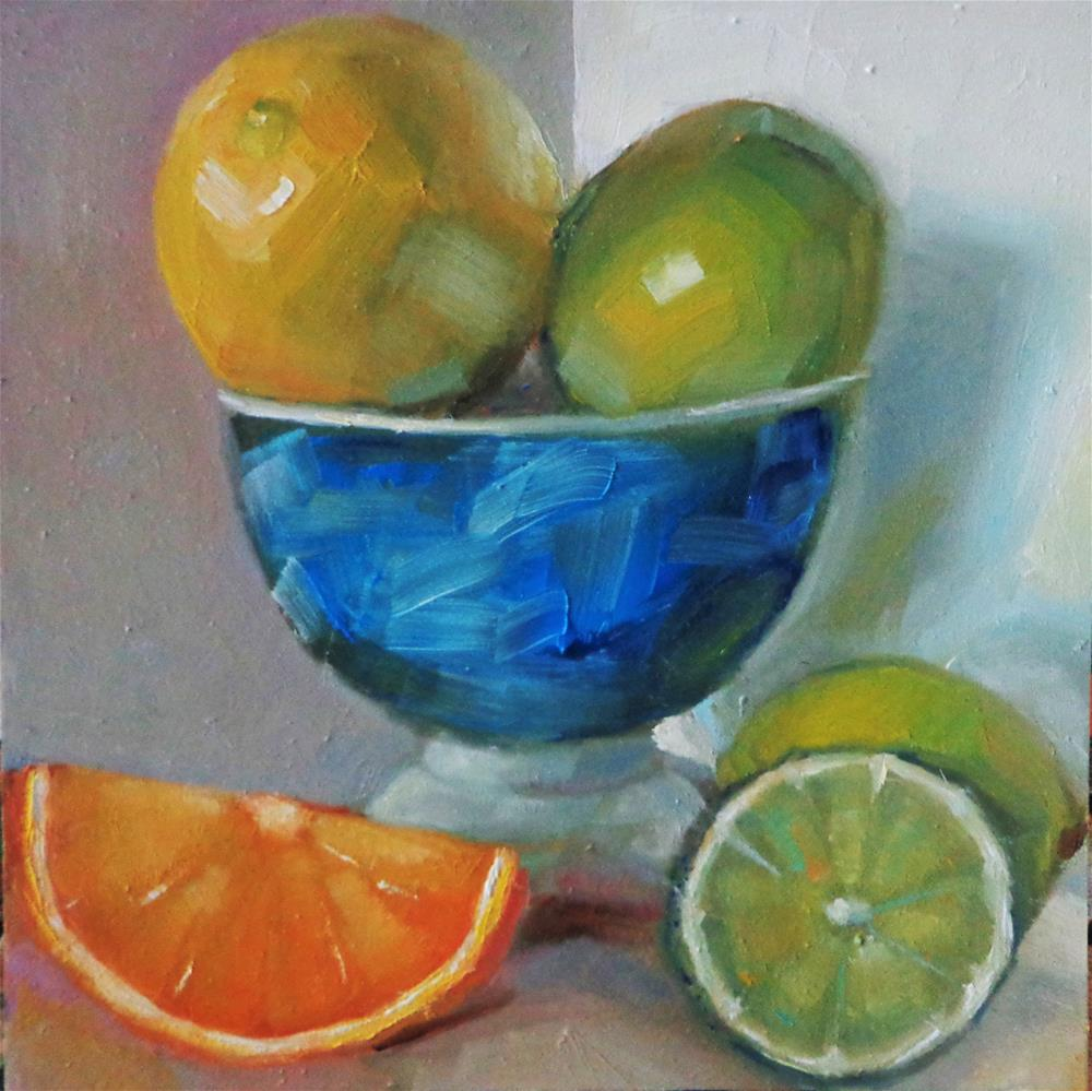 """Citrus"" original fine art by Maria Z."