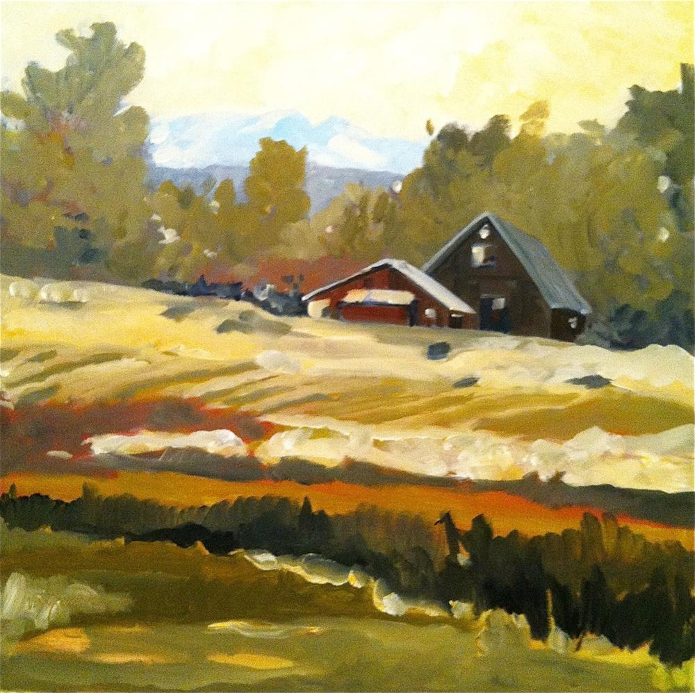 """Snohomish farm, Washington"" original fine art by Cornelis vanSpronsen"