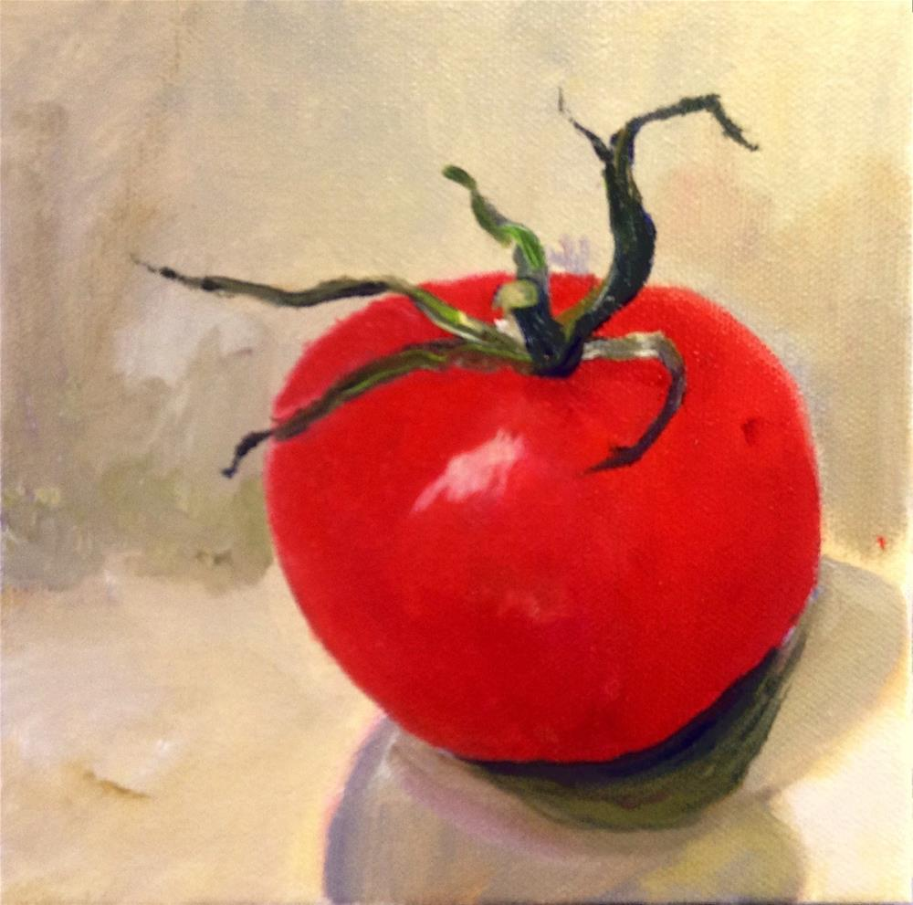 """The Red Tomato"" original fine art by Cathy Boyd"
