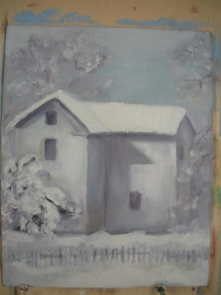 """Snow Day"" original fine art by barbara quast"