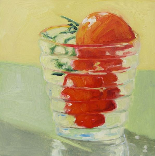 """My Sweet Cherry Tomato"" original fine art by Mb Warner"