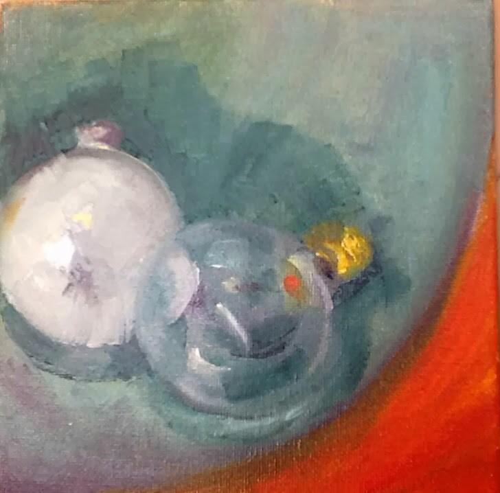 """""""A Light Lunch"""" original fine art by Peggy Schumm"""