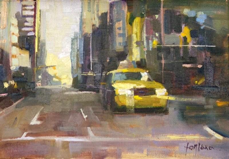 """""""Yellow Cab"""" original fine art by Francesco Fontana"""