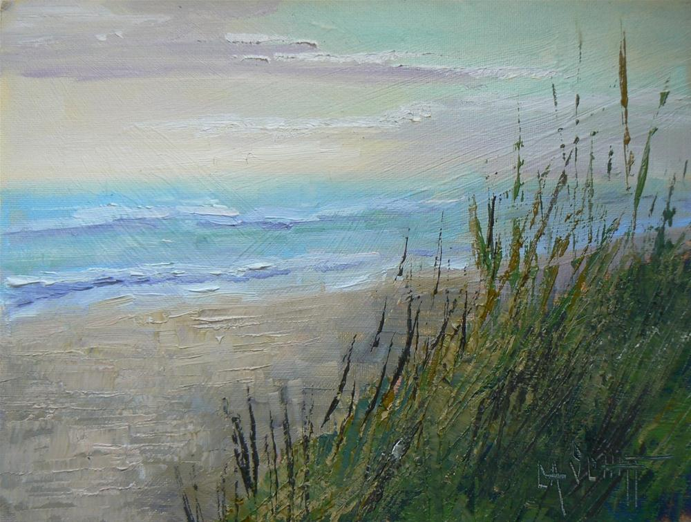 """Daily Painting, Original Oil Landscape, Beach TIme"" original fine art by Carol Schiff"
