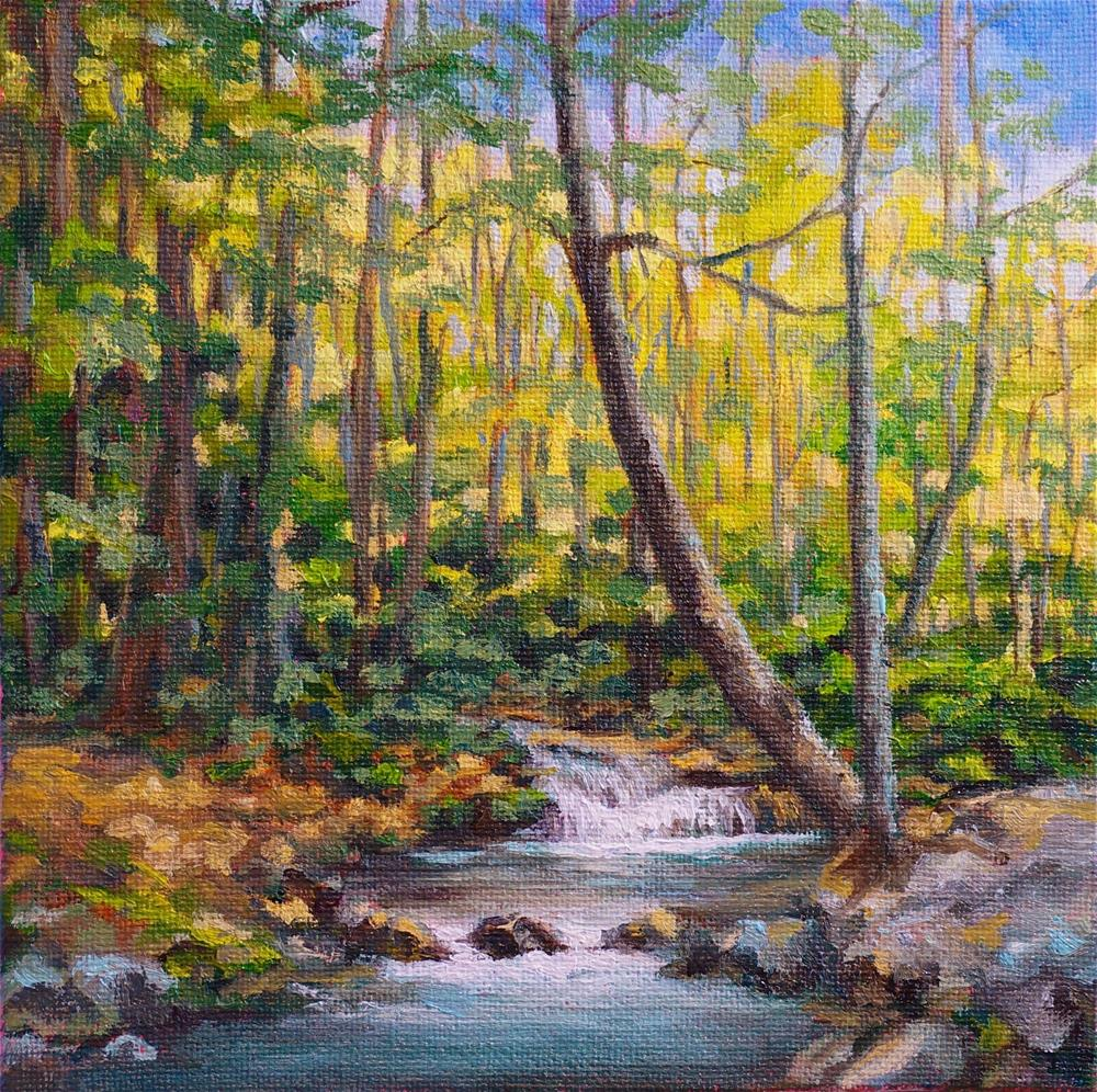 """Along the River"" original fine art by Maria Levandowski"