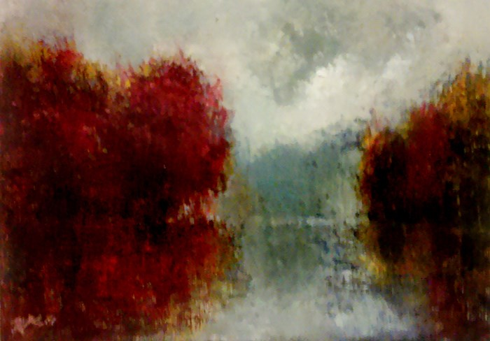 """Red Reflections"" original fine art by Bob Kimball"