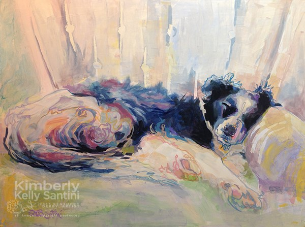 """Swishy"" original fine art by Kimberly Santini"