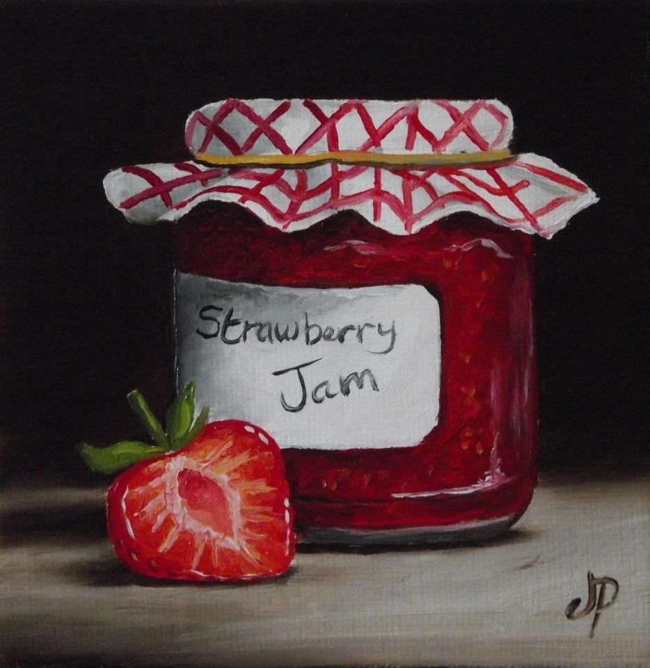 """""""Home made Strawberry Jam"""" original fine art by Jane Palmer"""