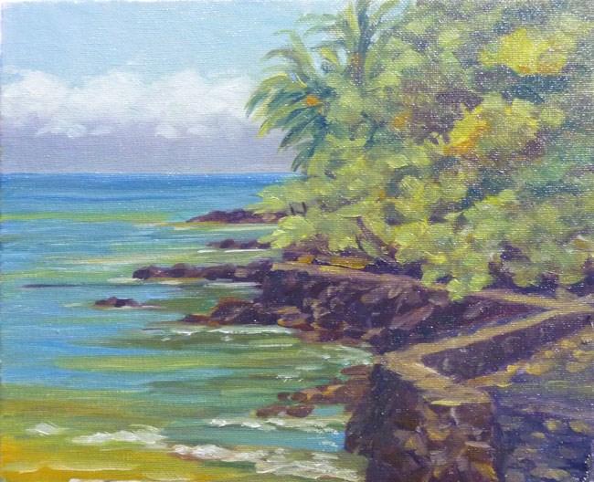 """Keauhou Bay"" original fine art by Stan Chraminski"
