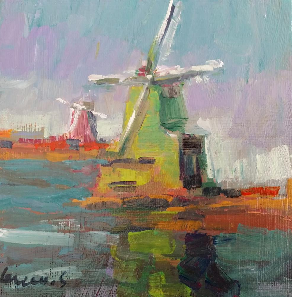 """windmills"" original fine art by salvatore greco"