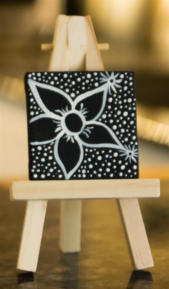 """White on Black"" original fine art by Kali Parsons"