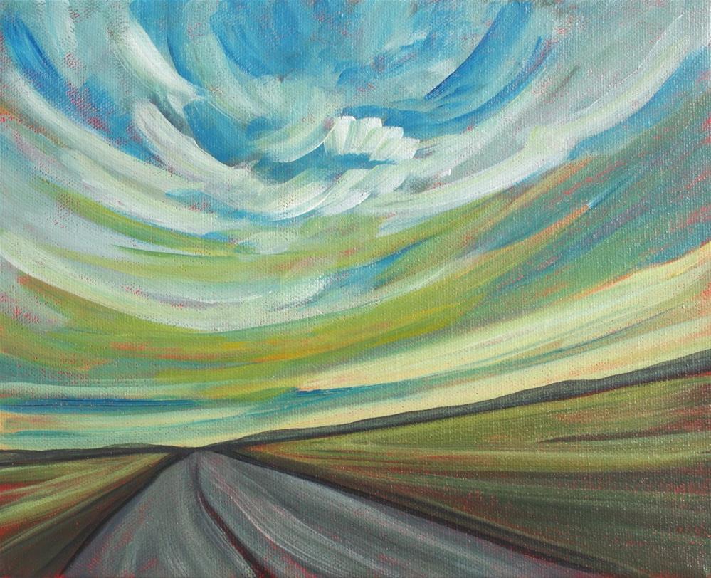 """""""Prairie Highway"""" original fine art by Sage Mountain"""