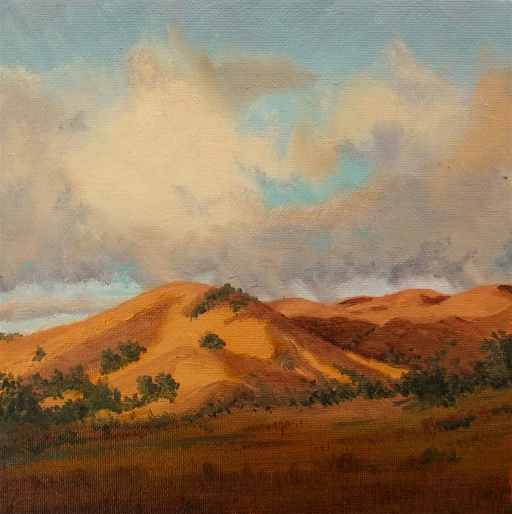 """Foot Hills"" original fine art by William W. Hoyt"