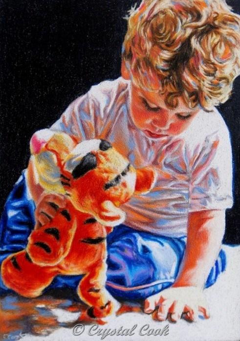 """Best Pals"" original fine art by Crystal Cook"