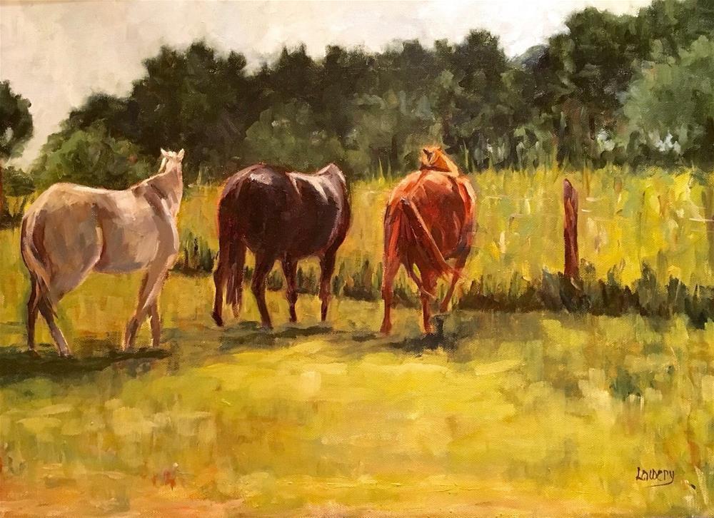 """Lawn to Pasture"" original fine art by Wanda Lowery"