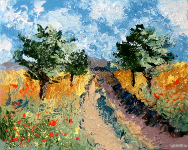 """Mark Adam Webster - Foothill Road Palette Knife Oil Painting"" original fine art by Mark Webster"