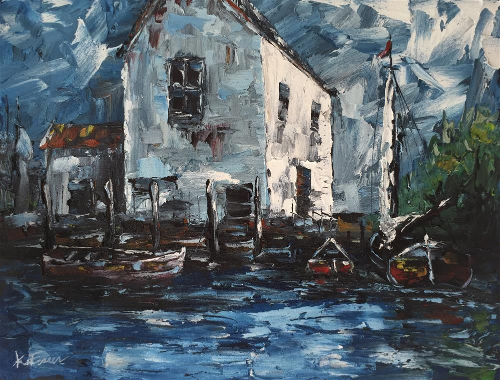 """Boat House"" original fine art by Ken Fraser"