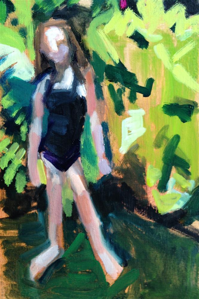 """Island Girl"" original fine art by Pamela Hoffmeister"