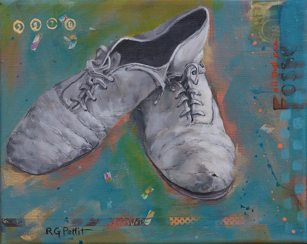 """Work Shoes: Jazz "" original fine art by Rhea  Groepper Pettit"