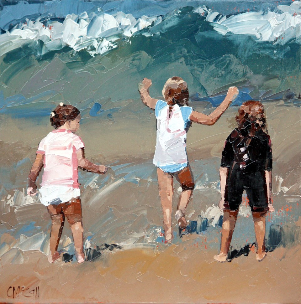 """Braving The Waves II"" original fine art by Claire McCall"