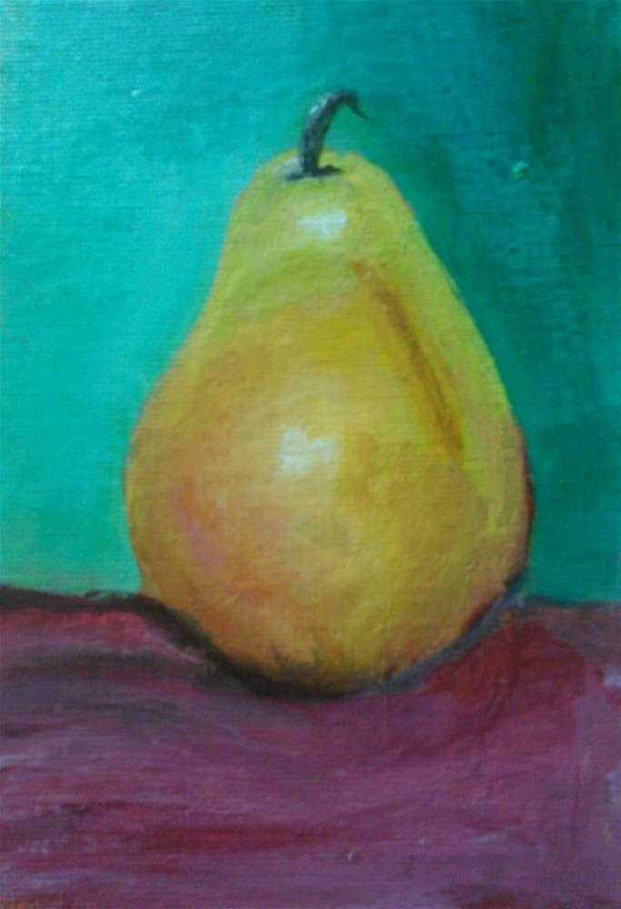 """First Pear"" original fine art by Gerri Obrecht"