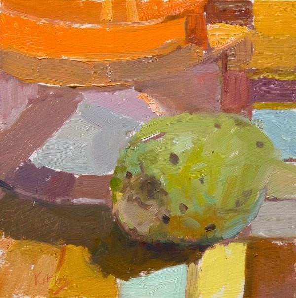 """""""Cactus Fruit and Jar"""" original fine art by Randall Cogburn"""