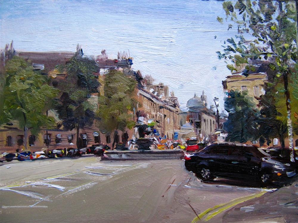 """Laura Place, Bath"" original fine art by Adebanji Alade"