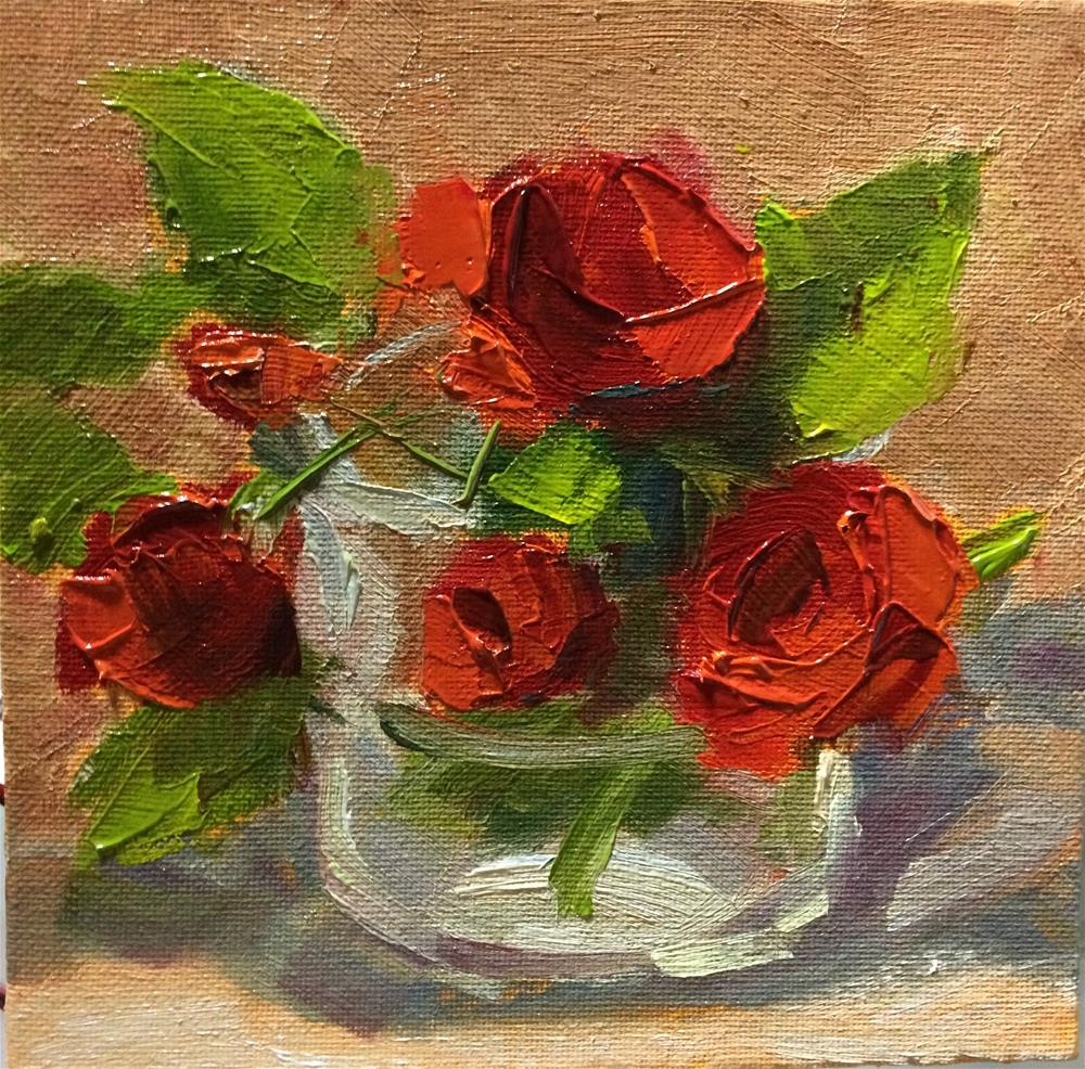 """Mini Roses -2-"" original fine art by Naomi Bautista"