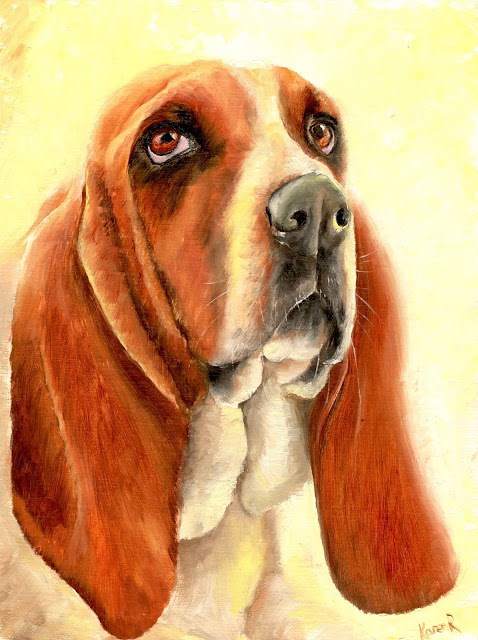 """Sunshine Hound"" original fine art by Karen Robinson"