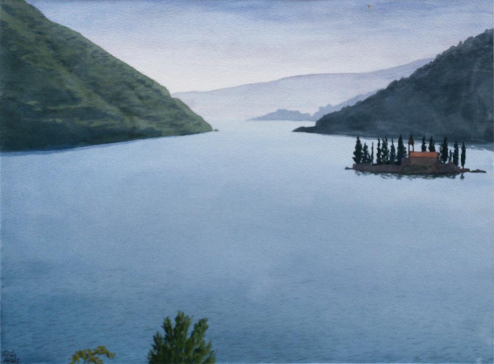 """Boka Kotorski / Sv. Dorde"" original fine art by Greg Arens"