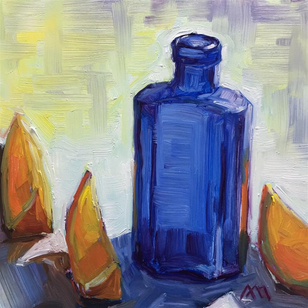 """""""Blue & Oranges"""" original fine art by Austin Maloney"""