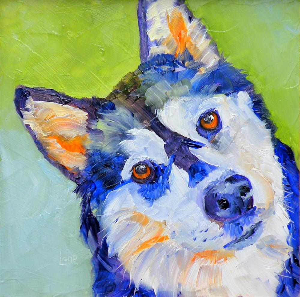 """RIPLEY 32/100 OF 100 PET PORTRAITS IN 100 DAYS © SAUNDRA LANE GALLOWAY"" original fine art by Saundra Lane Galloway"