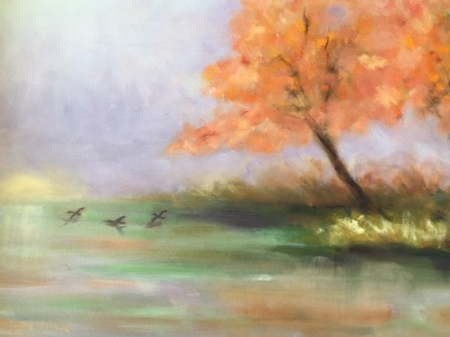 """Going Home"" original fine art by Peggy Schumm"